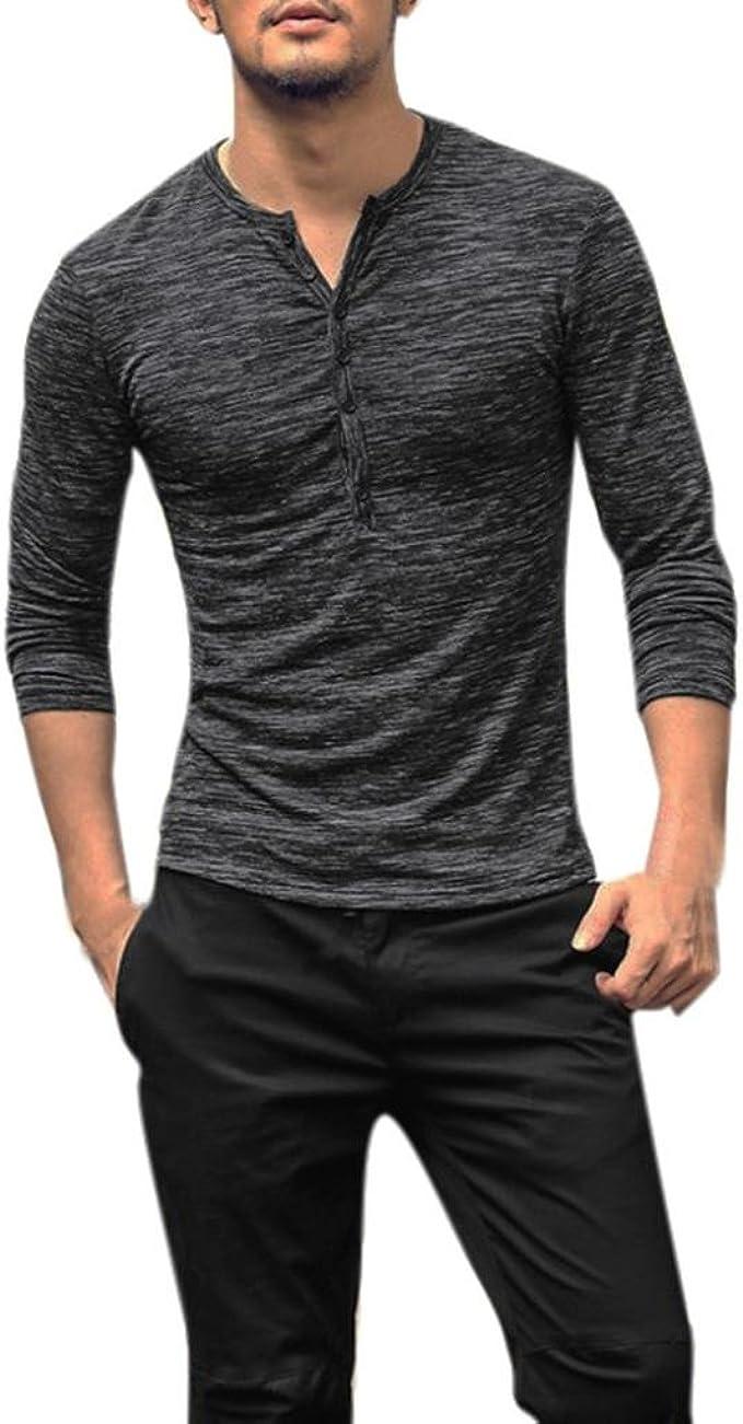 Mens Polo Shirts Men Autumn Winter Casual Printed Long Sleeve Slim T-Shirt Top Blouse