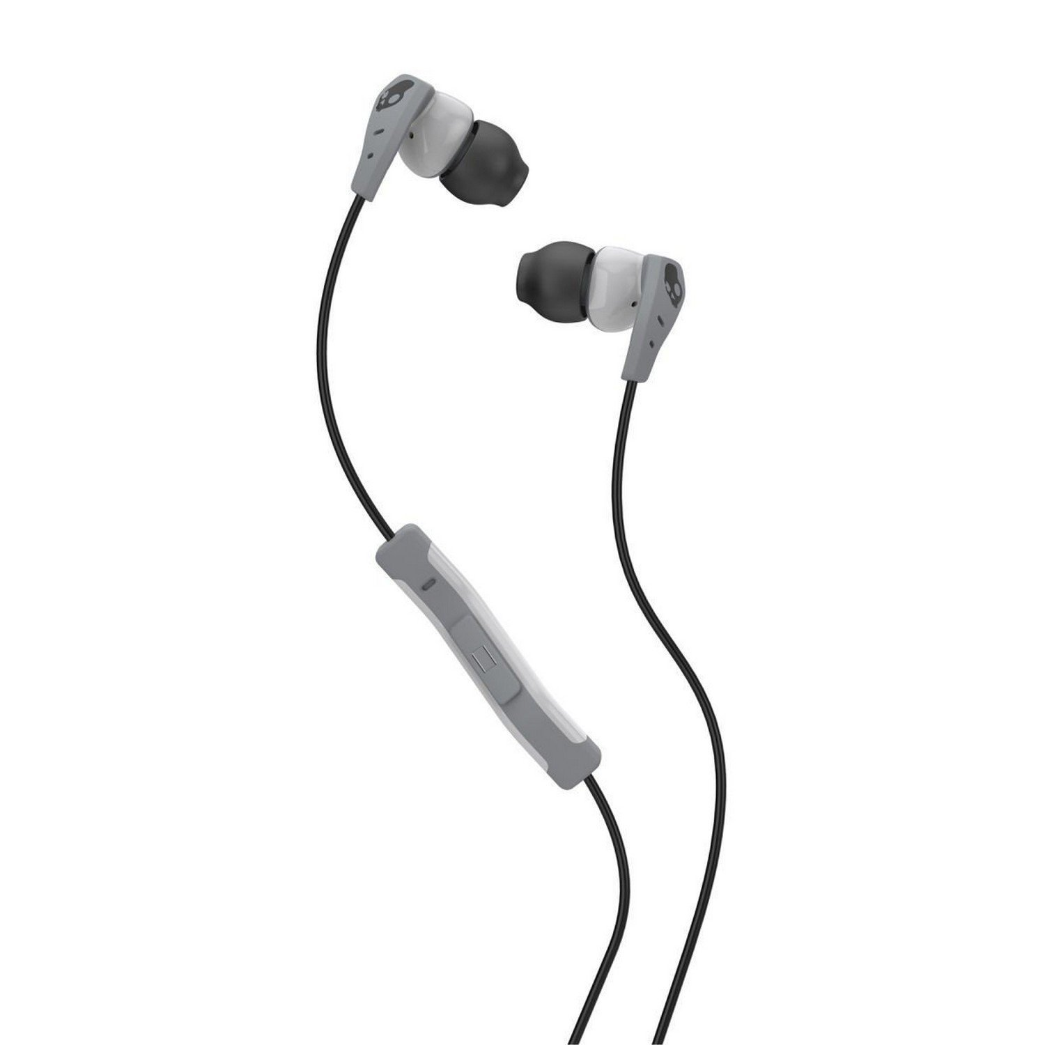 Skullcandy Method Sweat Resistant Sport Earbud with In-Line Microphone and Remote, Lightweight and Secure In-Ear Fit for Running and Exercise, Cable Management Clip for Workouts, Gray