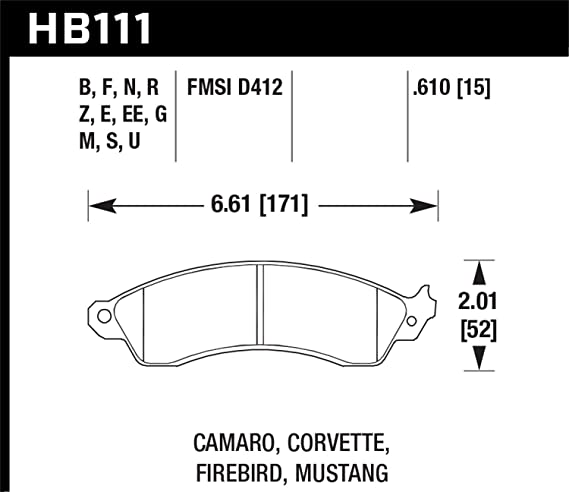 Hawk Performance HB111E.610 Disc Brake Pad