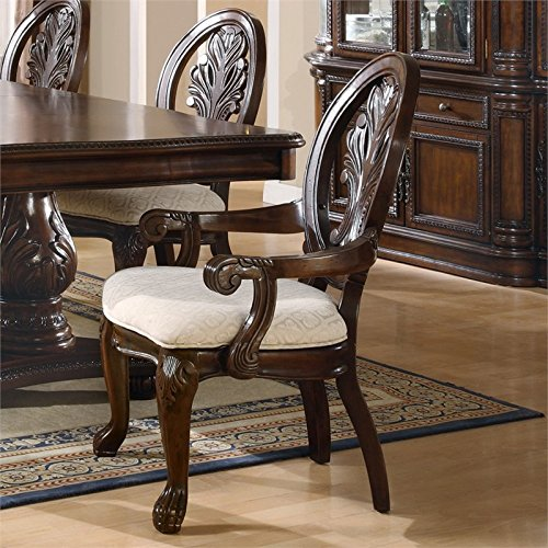 Coaster Home Furnishings Traditional Arm Chair,  Dark Cherry