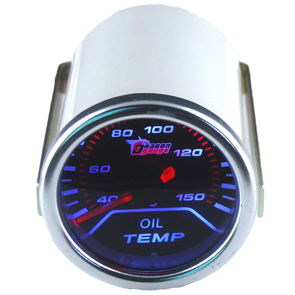 ESUPPORT Car 2'' 52mm Oil Temp Gauge Meter Temperature Light Automotive by ESUPPORT