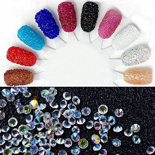 1440Pcs Micro Diamond DIY Nails Rhinestones Crystal Mini Rhinestones Need Glue Nail Art Decoration (09): Amazon.es: Belleza