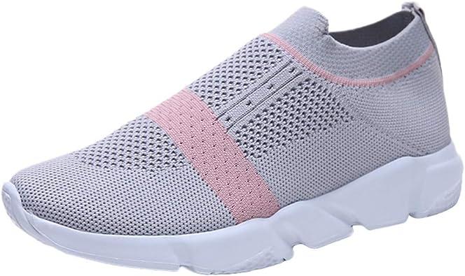 Zapatillas Deportivas De Mujer sin Cordones Malla Zapatos Running ...