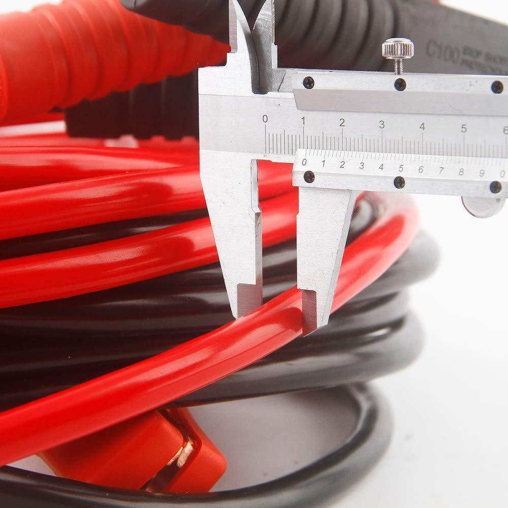 Cables de refuerzo de bater/ía de puente profesional Abrazaderas de servicio pesado Puntas de salto 1000AMP para camiones diesel de gasolina para camiones Van