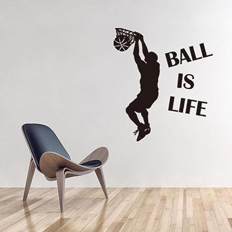 Amazon.com: zomusa pegatinas de pared, bola es la vida ...