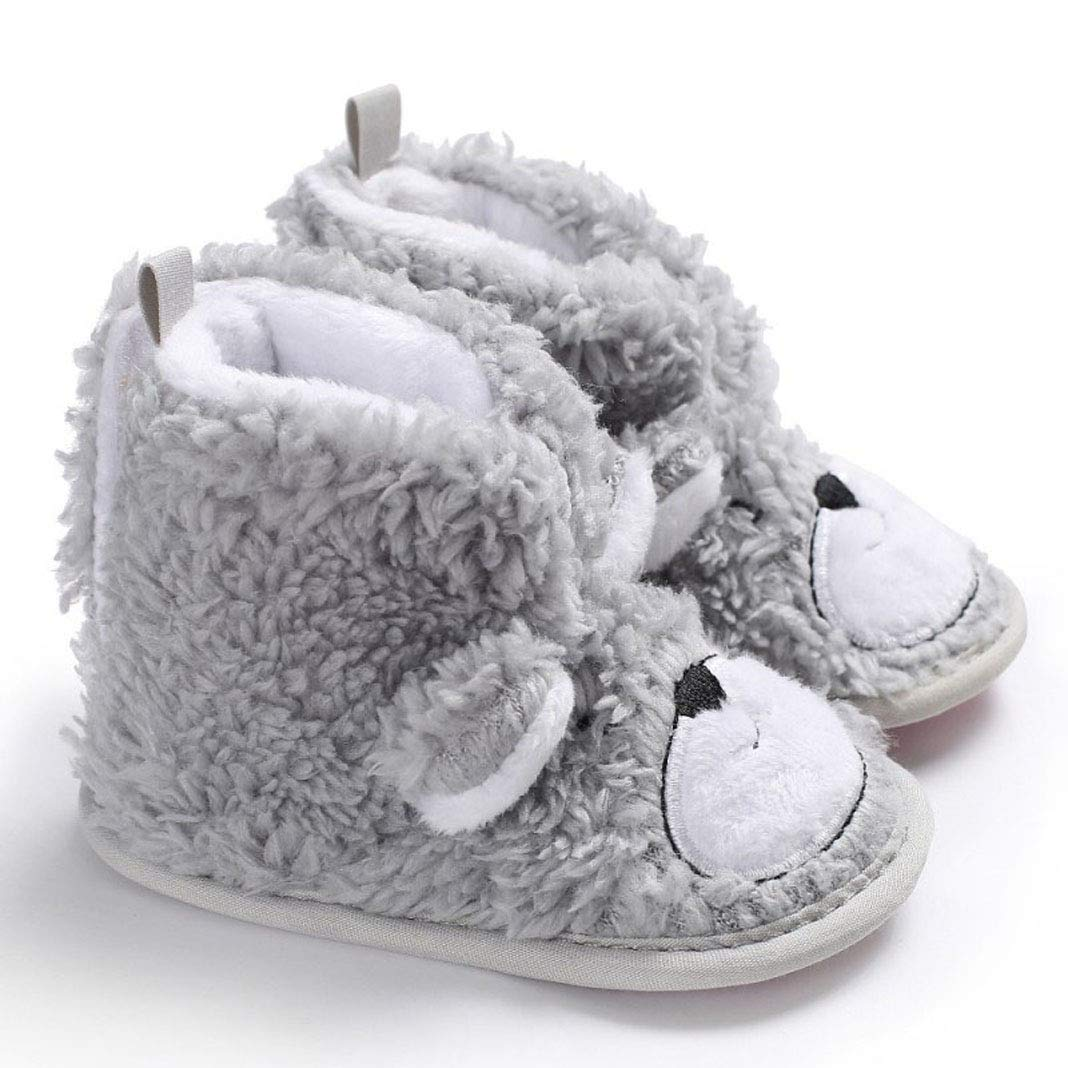Newborn Baby Boys Girls Cute Animal Soft Sole Anti-Slip Warm Winter Infant Prewalker Toddler Snow Boots