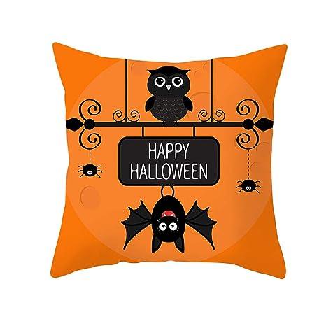 MAYOGO Funda Cojin Estampado Pumpkin Halloween Decoracion ...