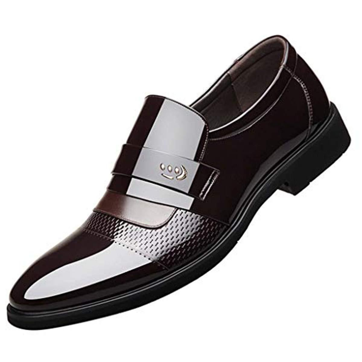 Men's Oxford Sneaker Dress Shoes-Men Business Men's Single Shoes Pointed Leather Patent Leather Business Men's Shoes