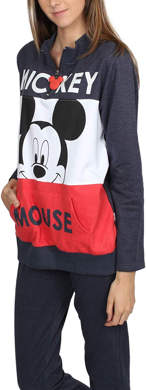 Disney Camisola Manga Larga Felpa Mickey Sport para Mujer
