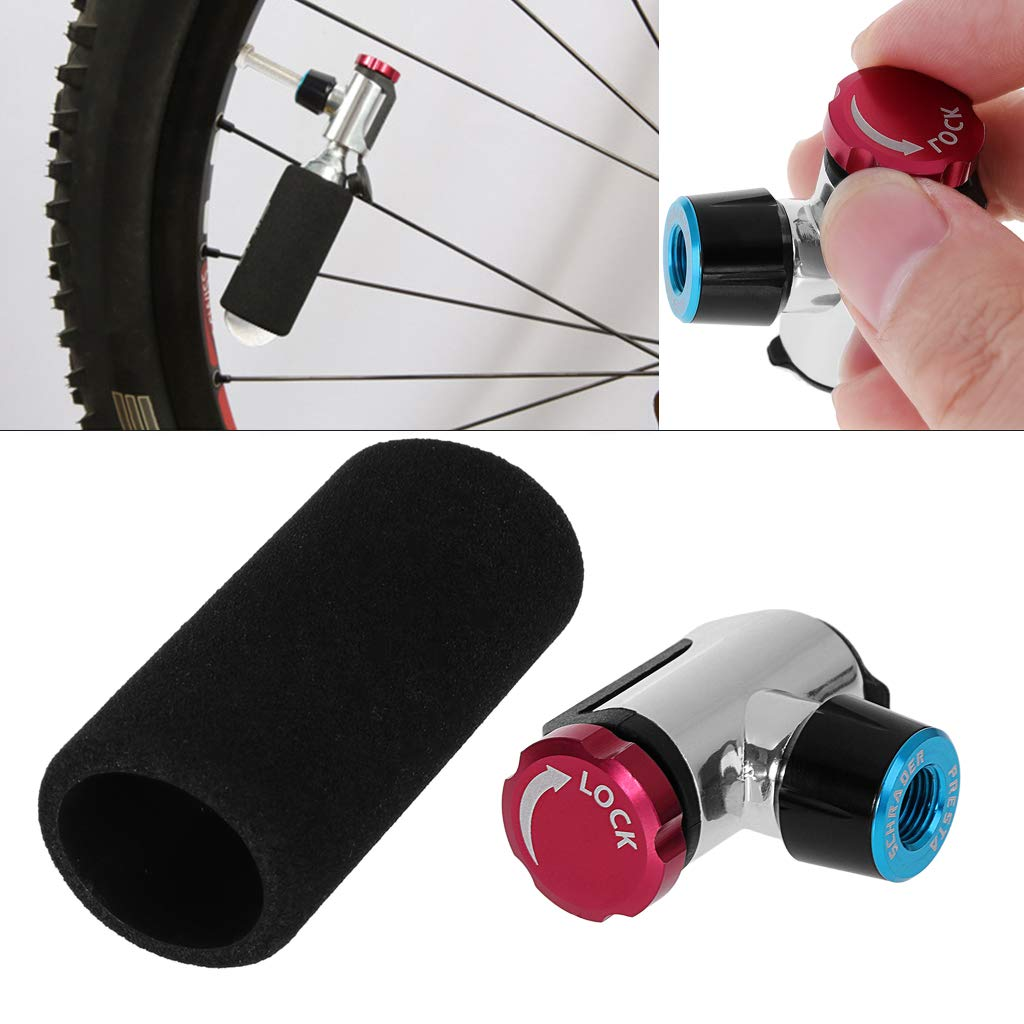 v/álvula y cubierta protectora de di/óxido de carbono port/átil Bomba infladora de bicicleta de CO2