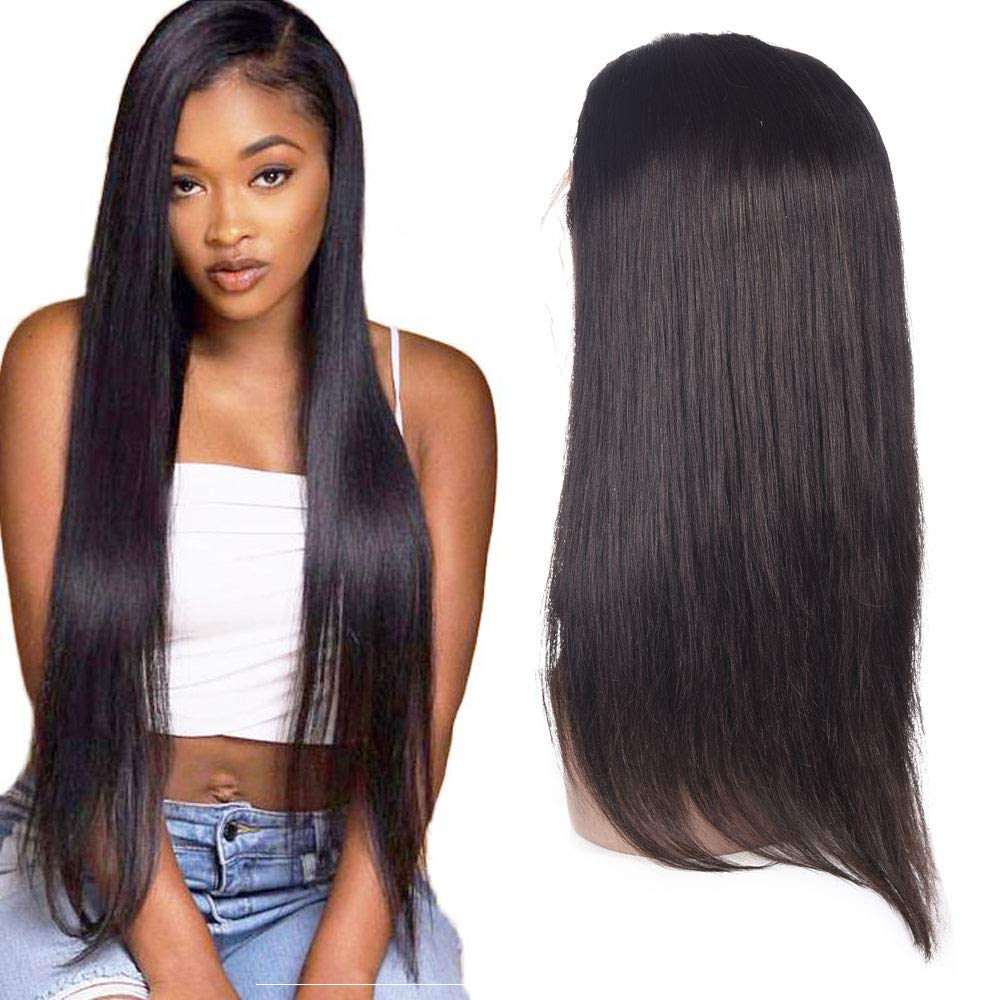 Barroko Hair Straight Lace Front Wig 150% Density 13X4 Lace Front Wig Natural Color Virgin Human Hair Lace Wigs (10) by Barroko Hair