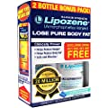 Lipozene - Natural Weight Loss Supplement - Appetite Suppressant and Control - Two Bottles 60 Total Veggie Capsules