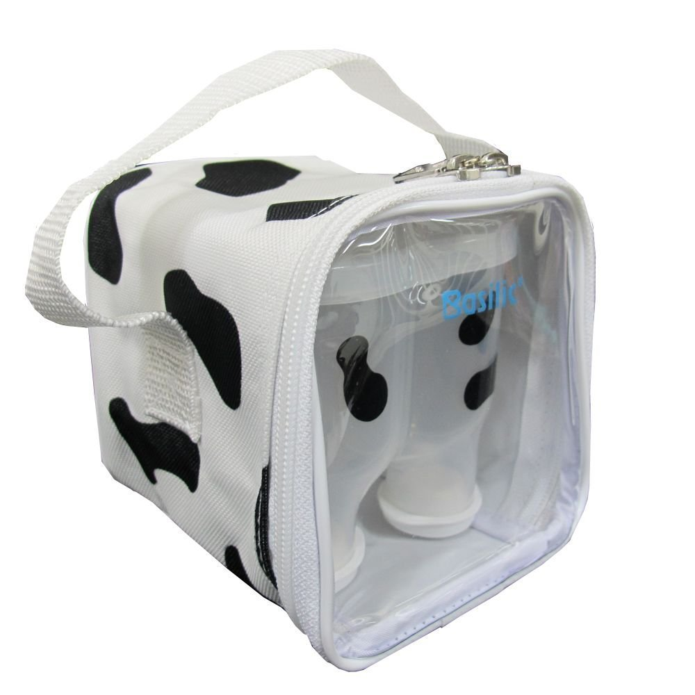 Basilic Baby Formula Milk Powder Dispenser Container Storage - 4 Compartment (Cow Pattern) by Basilic
