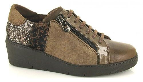 Hispanitas, CHI75983, Blucher Taupe de Mujer: Amazon.es: Zapatos y complementos