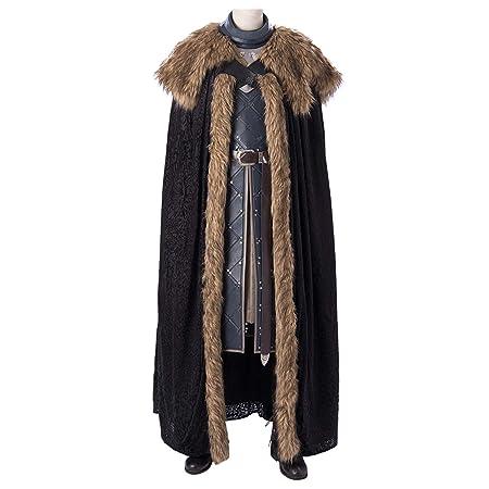 QWEASZER Juego de Tronos 8 Jon Snow Disfraz Rey en el Norte ...