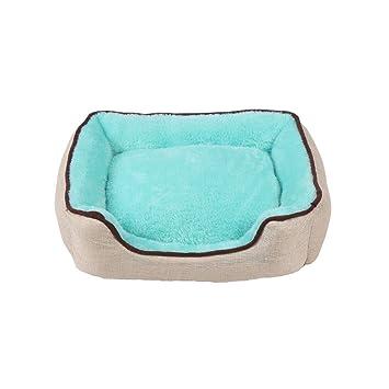 Moolo Pet Bed Quality PP Cotton Pad Impermeable Antideslizante Suave Cómodo Cómo Resistente al Desgaste Fácil de Lavar (Verde) Cama de Perro (Tamaño : L): ...