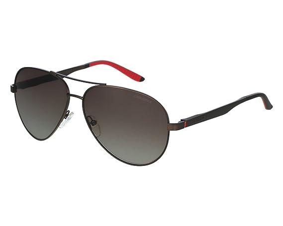 42c1fd588eb Carrera 8010S NLX Semi Matte Brown 8010S Aviator Sunglasses Polarised Lens  Cate  Amazon.co.uk  Clothing
