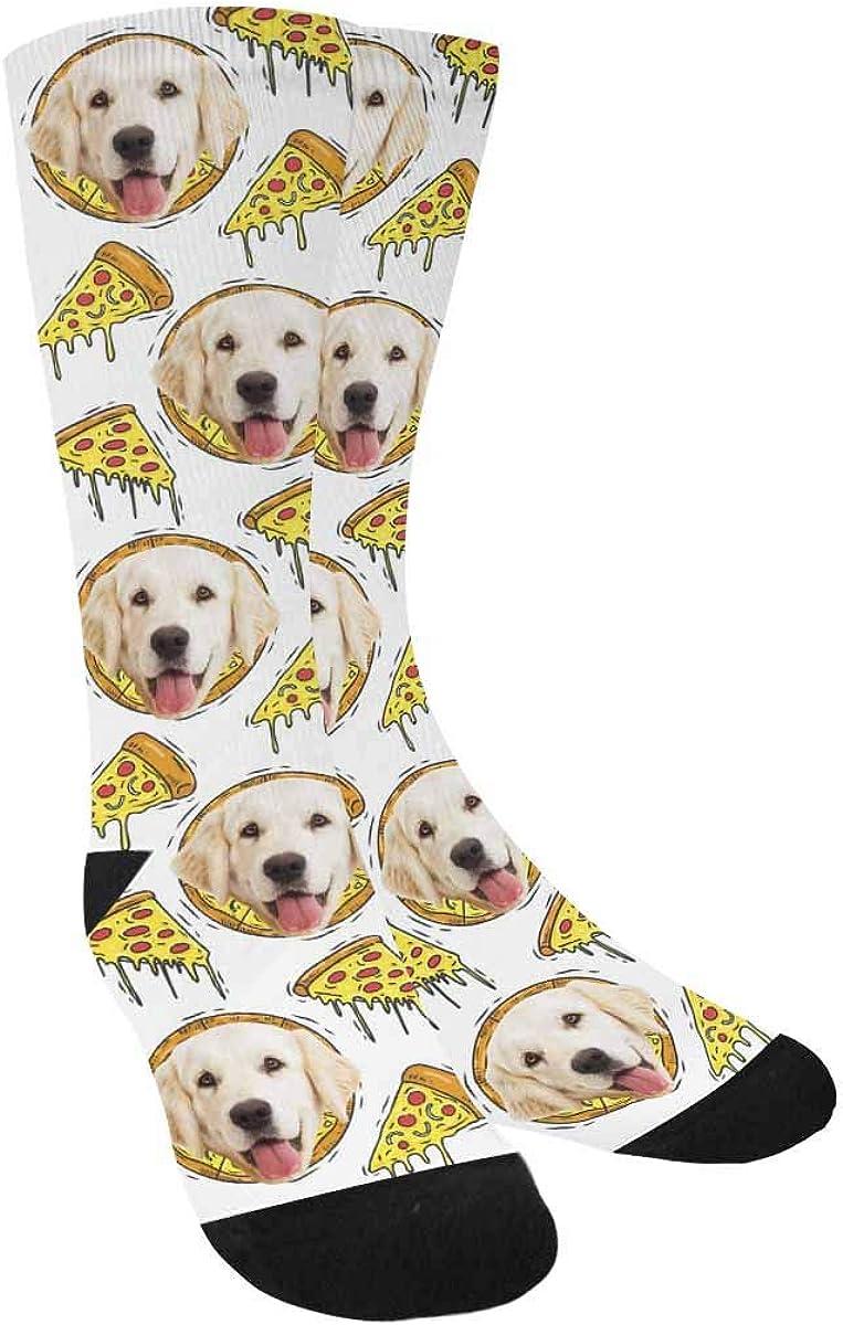 Custom Printed and Personalized Socks Pizza Fast Food Crew Socks Unisex