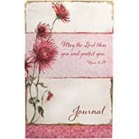 The Lord Bless you in Pink Floral Flexcover Journal: Pliable water-resistant floral cover, 128 lined pages with Scripture verse at the bottom, Presentation page for gift giving