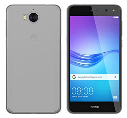 Tumundosmartphone Funda Gel TPU para Huawei Y6 2017 Color Transparente: Amazon.es: Electrónica