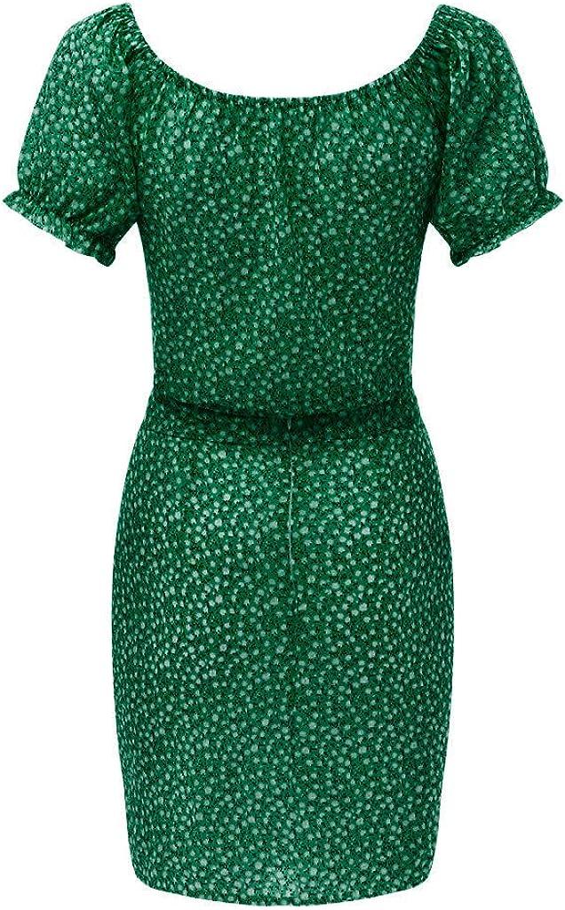 TUDUZ Rock und Top Sets Damen Sommer Blumen Zweiteiliges Crop Tops Side Split Tight Hip Skirt f/ür Shopping Party Strand Streetwear Bekleidungsets
