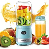 Portable Mini Blender, Personal Blender USB Rechargeable for Smoothies and Shakes with 2 Tritan BPA-Free Blender Cups, Small Smoothie Maker Protein Juice Blender Mixer (Blue)