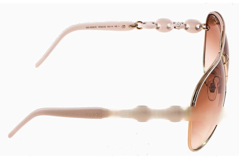Gucci - Lunette de soleil GG 4225 S CC Aviator - Femme  Amazon.fr  Vêtements  et accessoires 003df9c353cb