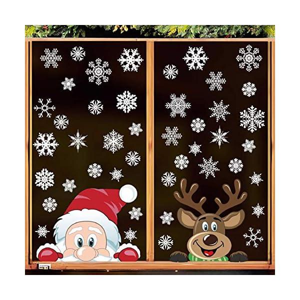 Adesivi Decorativi Natalizi,Yuson Girl Romantic Atmosphere Natale Fiocchi Di Neve Finestra Decori Adesivi per Natale Partito Casa Bambini Decor 2 spesavip