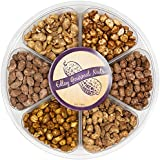 Edley Gourmet Nuts Deluxe 6-Flavor Nuts Gift Tray, Perfect as a Thank You Gift or for Any Occasion, Small-Batch Kettle Roasted for Superior Freshness, Nuts Never Tasted This Good, 1 1/2 Pounds