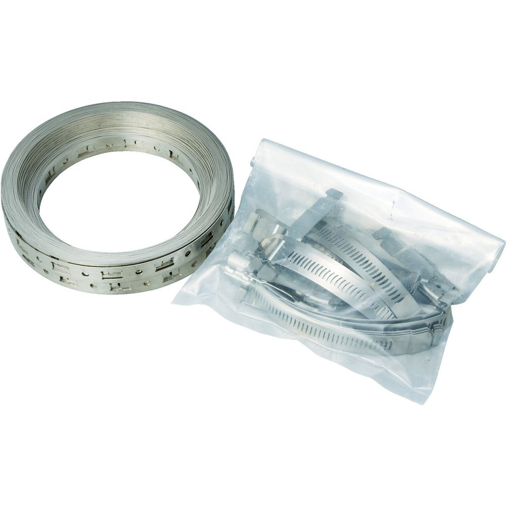 Breeze Make-A-Clamp Stainless Steel Hose Clamp System, 1 Kit Contains: 50 ft Band, 10 Adjustable Fasteners, 5 Band splices (Pack of 1)