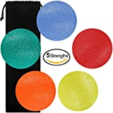 Fidgets Stress Relief Ball, SourceTon Round-Shape Hand, Finger and Grip Strengthening Therapy Stress Balls, Great for Physical Rehabilitation & Grip Strengthener, Pack of 5 Squeeze Balls