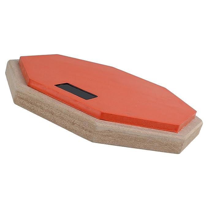 BQLZR 8 pulgadas Doble Cara mancuernas de goma espuma suave Tambor de práctica Pad Naranja y Negro Tacto Suave practicar: Amazon.es: Instrumentos musicales