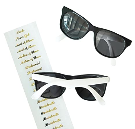 74d14cd5599 Amazon.com  White Bridal Party Sunglasses (6)  Everything Else