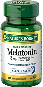 Nature's Bounty Melatonin 3 mg Tablets 120 Tablets (Pack of 2)