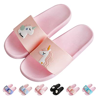 Womens Girls Unicorn Slide Sandals Non-Slip Beach Water Shower Shoes Pool Bath Slippers | Shoes