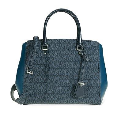 7951a078c972 Michael Kors Signature Logo Print Tote Bag: Handbags: Amazon.com