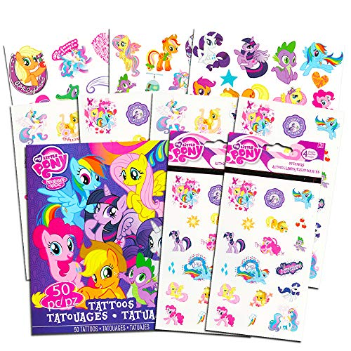 My Little Pony Stickers & Tattoos Party Favor Pack (144 Stickers & 50 Temporary Tattoos) -