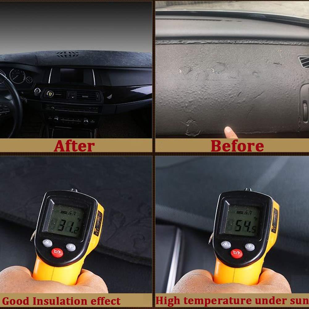 Wont Break Dash Sensors HanLanKa Dashboard Cover For GMC Sierra and Chevrolet Silverado- Fits 2007-2013 Models with Two Glove Boxes Custom Fit Dash Mat Premium Carpet,Black