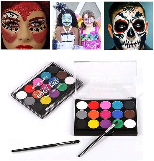 koobea Kit de pintura facial, fiesta de maquillaje, maquillaje de ...