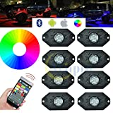 Kyпить Wiipro RGB Rock Lights with 8 pods LED Neon Lighting Bar APP Bluetooth Controller for Car Jeep Off Road Trucks ATV SUV Vehicle Boat Interior Timing & Flashing & Music Mode на Amazon.com