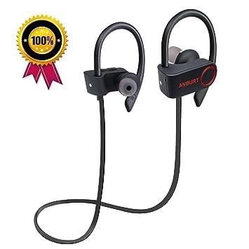 anburt inalámbrico auriculares, auriculares inalámbricos deportivos, mejor Bluetooth resistente al agua HD estéreo auriculares