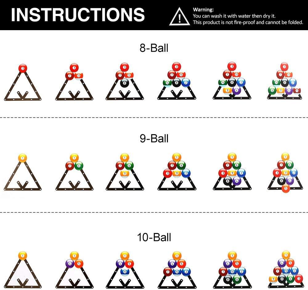 1PCS Magic Ball Rack Billar Rack Sheet Cue Ball Rack Triangle Cue Ball Accesorio 8//9//10 Paquete Combinado de Bolas Lepeuxi 6PCS