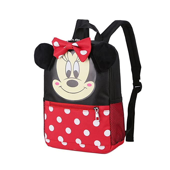 58e964d95cd YOURNELO Children s Cartoon Big Ears Mickey Mouse Backpack Kid s Cute  Kindergarten Schoolbag (Minnie)