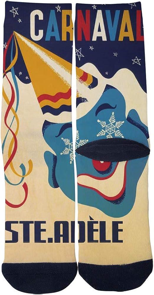 Mens Womens Casual Vintage Travel Art Quebec Winter Carnival Socks Novelty Custom Hip Hop Cartoon Elite Crew Socks