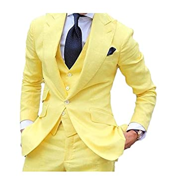 Botong Traje - para hombre Amarillo amarillo 48