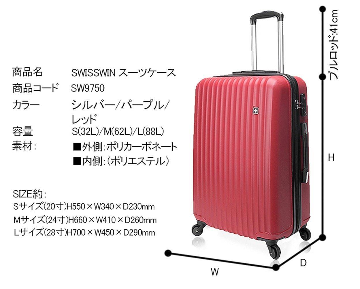 a61359cc4f ... 防水 アウトドア かばん 旅行 バッグ トランクキャリー TSAロック ビジネス 機内持ち込み可 4輪独立サイレントキャスター サイズS 容量 35L レッド | スーツケース