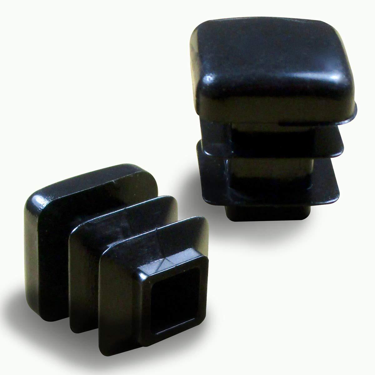 Pack de 40 negro BQLZR Falta redondo muebles silla mesa piernas pies de goma protectores de suelo Cap