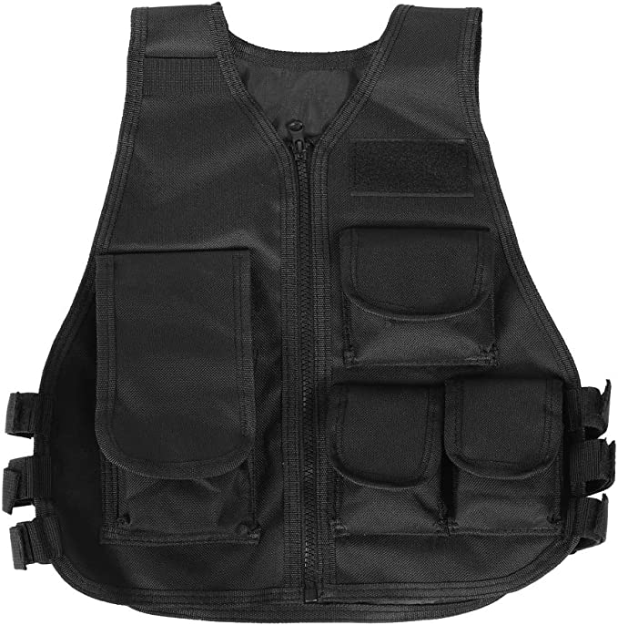 Tactical Vest 600D PolyesterOutdoor Ultra-Light Combat Training Vest Adjustable Armee Fan Trainingsweste Black