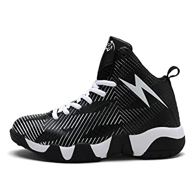 b8733253ecd39 Amazon.com | pophight Man Boys Basketball Shoes 2019 Hightop Quality Running  Walking Chaussure Basket Enfant Outdoor Kids Sneakers Sport Shoes | Shoes