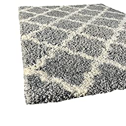 Maxy Home Soft Shag Area Rug, Grey